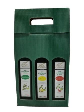 Picture of Confezione di tre bottiglie da 0,5 litri olio extravergine aromatizzato