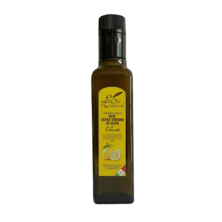 Olio extravergine aromatizzato al limone
