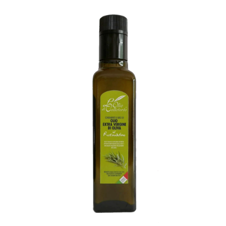 Olio extravergine aromatizzato al rosmarino